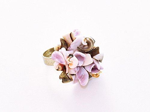 Anillo Baltar joya original de conchas naturales