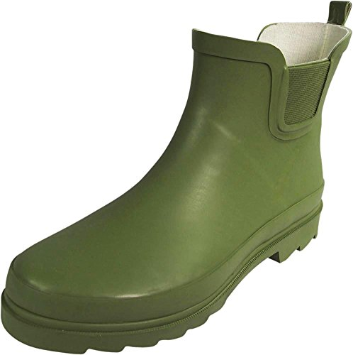 NORTY - Womens Ankle High Rain Boot, Matte Olive 39972-8B(M) US