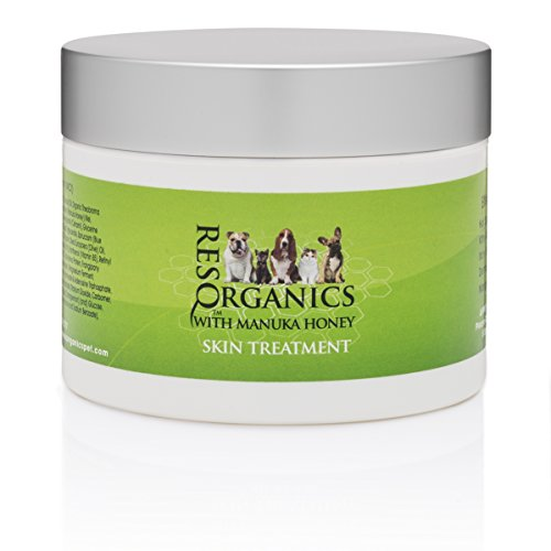 ResQ Organics Pet Skin Treatment 8oz - Effective for Hot Spots, Mange, Itchy Skin, Allergies, Dry Nose, Cracked Paws, Promotes Hair Growth.