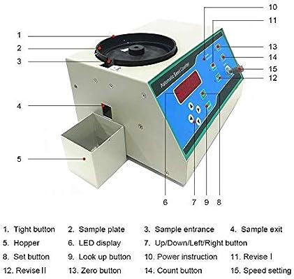 Botones T/áctiles de Pantalla LED para Mijo Ma/íz Trigo M/áquina Autom/ática de Contador de Semillas para Diversas Formas Semillas Colza de Girasol, Arroz Soja