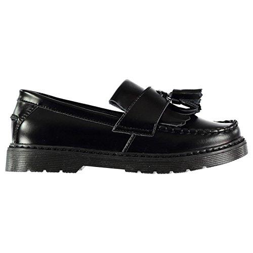 Kangol Kinder Mädchen Upton Mokassin Schuhe Schwarz Box