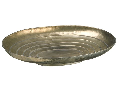 3.15''Hx13.6''Wx15.16''L Metal Plate Antique Silver (Pack of 2) by Arcadia Silk Plantation
