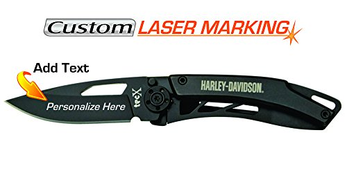 Custom Laser Engraved Harley Davidson Tec X Dinero Knife CA52080