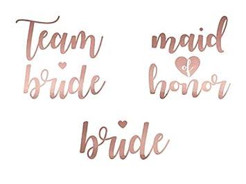 Party Deco Tatuaje Papel Team Bride Rosa Dorado, 13 Unidades ...