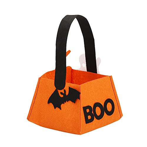 Alinktrend Trick or Treat Halloween Bag- Nonwovens Environmental Friendly Adorable Stylish Durable Candy Tote Bag for Halloween Party, Children, (Homemade Halloween Treats Easy)