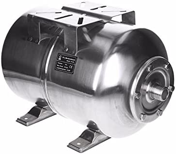ECD Germany Vaso de expansion Caldera de acero inoxidable 24L - con membrana EPDM - Conexión de 1 pulgada - Max. Presión 6 - Caldera a presión para instalaciones sanitarias domésticas