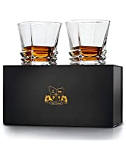 'Hobart' Whisky Glasses Set of 2. Ultra Clarity Glass Whiskey Tumblers (300ml) by Van Daemon for Liquor, Bourbon or Scotch. Perfectly Gift Boxed.