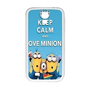 Happy Minions Case Cover For samsung galaxy S4 Case