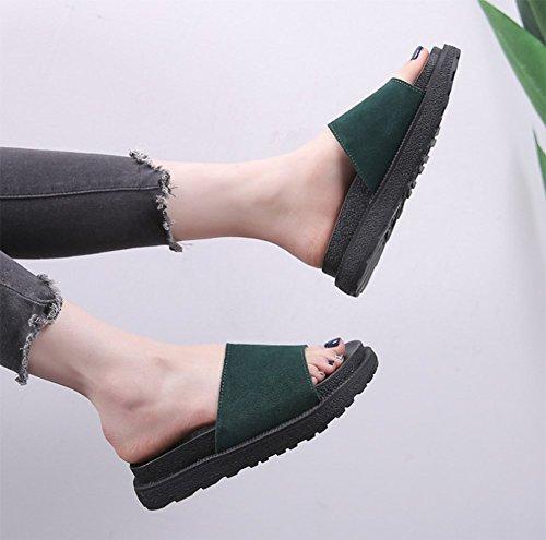 De Señoras Fondo Zapatillas B Grueso Suave weiwei Cool Zapatillas De Inferior Verano Transpirable Las Plano Moda OwqwF4t