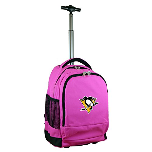 (Denco NHL Pittsburgh Penguins Expedition Wheeled Backpack, 19-inches, Pink)