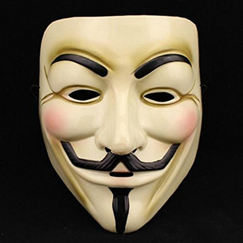 Ewin 1 pcs NEW ANONYMOUS V FOR VENDETTA GUY FAWKES FANCY DRESS COSTUME FACE MASK (Face Masks Fancy Dress)