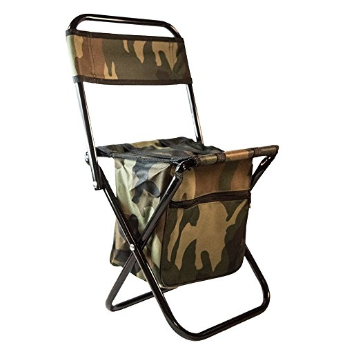 TukTek Tactical Kids Camo Folding Outdoor Hunting Chair Stool with Pocket and Handles for Children