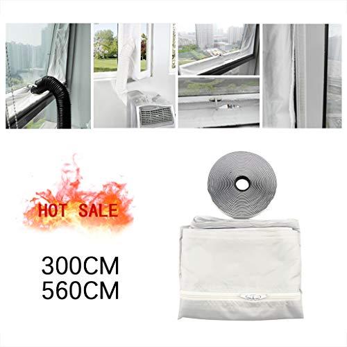 KUNAW AirLock Window Seal for Mobile Air-Conditioning Units Mobile Air Conditioning Soft Cloth Sealing Baffle Window Door Seal Window Frame Plate(300/560CM)