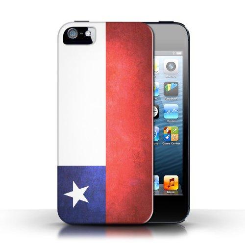 Etui / Coque pour Apple iPhone 5/5S / Chili/Chiliean conception / Collection de Drapeau