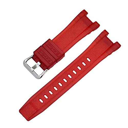 (Valcatch Strap Pin Buckled Adjustable Resin Rubber Wristband Wristwatch Bands Replacement Accessories for GST-W300/GST-S110/GST-W110)