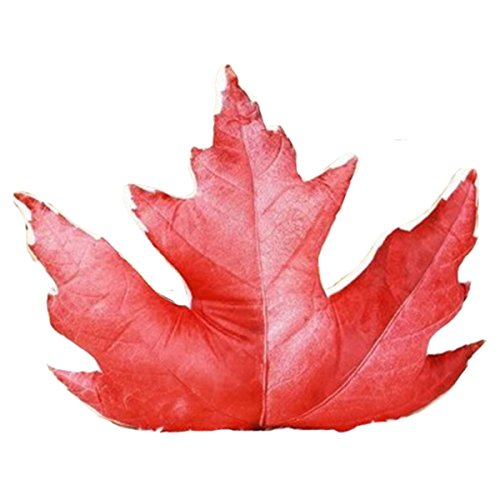 Newhui Creative Simulation Tree Leaf Plush Stuffed Toy Maple Leaf Shaped 20