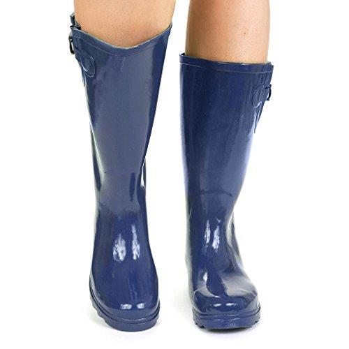 Twisted Frauen Drizzy Tall Cute Gummiregen Stiefel Blau