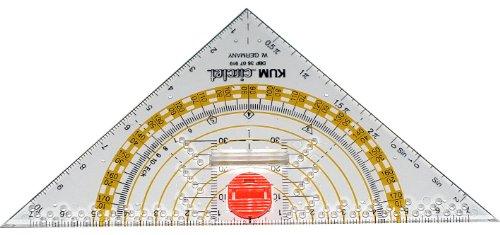 Kum 209.12.01 16cm PMMA Crystal Clear Acrylic Compass Triangle ()