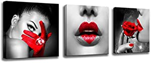 Sweepstakes: Wall Art for Bedroom Decor Black and Red…