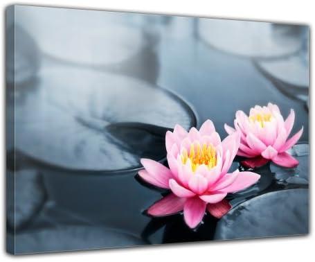 Bilderdepot24 Cuadros en Lienzo Flor de Loto 40x30 cm - Enmarcado Listo Bastidor Imagen. Directamente Desde el Fabricante: Amazon.es: Hogar