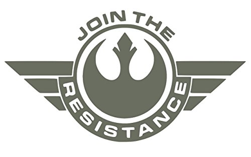 UR Impressions Gry Join The Resistance Decal Vinyl Sticker Graphics for Cars Trucks SUV Vans Walls Windows Laptop|Gray|7.5 X 4.25 Inch|URI549 ()