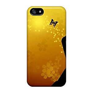 Defender Case For Iphone 5/5s, Butterfly Girl Pattern