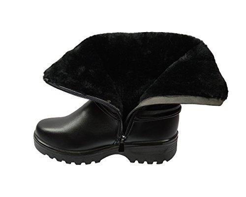 Gouden Weg Snowboots Voor Dames # 8959 Zwart