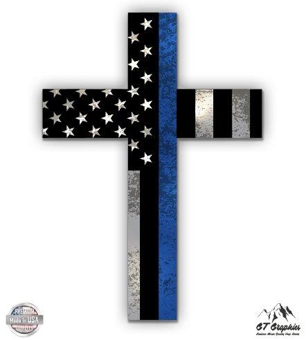 - Blue Line Police Cross - 3