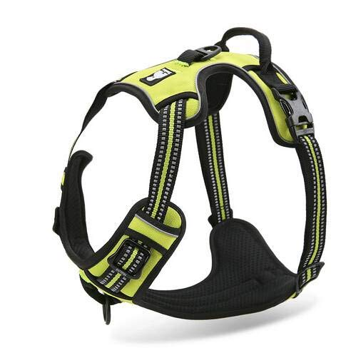Fashion Shop Best Front Range No-Pull Dog Harness 3M Reflective Outdoor Adventure Pet Vest with Handle. 3 Stylish Colors and 5 Sizes-Green XL