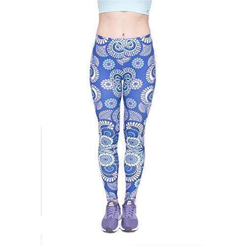 Lga46009 Blue Giovane Alta Legging Mandala Yoga Qualità Di Tee Pantaloni Donna Moda Print Ombre Leggings Legins xRf0nHR