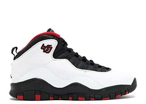 Nike Mens Air Jordan Retro 10 Scarpe Da Ginnastica, 44,5 Eu Bianco / Nero / Rosso (bianco / Nero-rosso Vero)