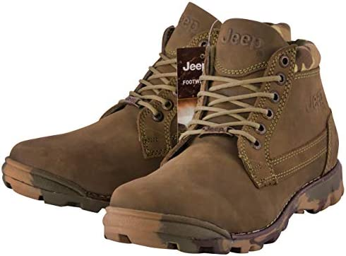 Jeep Men s Hiking Boot Ankle High Leather Outdoor Camping Work Shoes