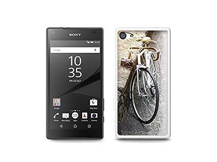 Sony Xperia Z5 Compact - Hülle, Silikon, Gummi Schutzhülle - Retro Fahrrad