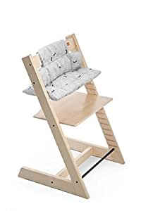 Stokke tripp trapp high chair cushion grey leaf chair for Stokke tripp trapp amazon