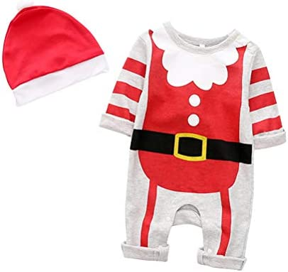 BESTOYARD Bebé Traje de Papá Noel Navidad Mameluco Sombrero ...