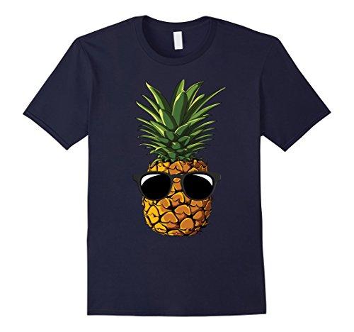 Mens Pineapple Sunglasses Aloha Beaches Hawaii - Hawaiian T-shirt Small - Friday Sunglasses Aloha