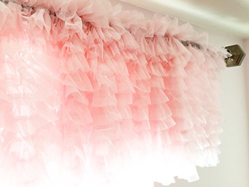 A Vision to Remember Light Baby Pink Ruffle Tulle Valance Ex
