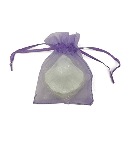 SUNGULF 100Pcs Sheer Organza Drawstring Pouches Wedding Gift Bags 3x4 Inches (Lavender) ()
