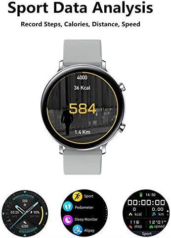 Smart Watch for Women Men with Call Function, Information Reminder Heart Rate Blood Pressure, Waterproof Bluetooth Pedometer with Sleep Monitor, Fitness Tracker Smartwatch for Android iOS Phones 41BAG50P6fL