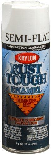 (Krylon K09201007 'Rust Tough' Semi-Flat White Rust Preventive Enamel - 12 oz. Aerosol)
