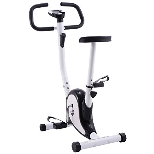Goplus Exercise Bike Stationary Cycling Fitness Cardio Aerobic Equipment Gym Black Generic