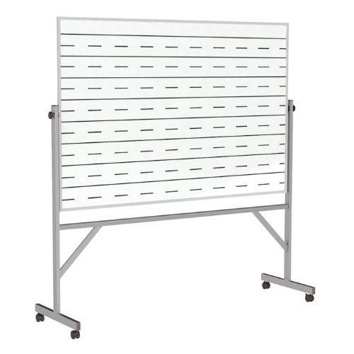 Ghent Reversible Porcelain Magnetic Whiteboard w/2 Sides Penmanship Lines, 77