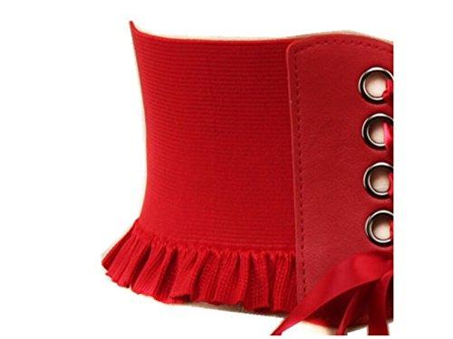 Di Yinche Della La Vestito Cintura Pannello Signora Vita Cinghia rosso Accessorio Tenuta Per Pizzo Esterno Di Banda BqBnf0