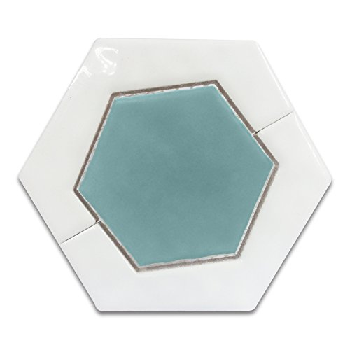 Eagle Ceramics Combined Mosaic Ceramic Tile ,Hexagona ,Matte and Glossy, 4.57