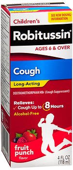 Robitussin Pediatric Long Acting Cough Relief Liquid 4 oz. - Acting Cough Liquid Long