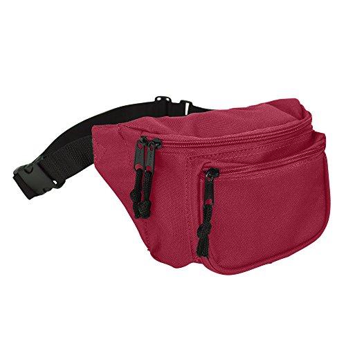 DALIX 3 Pocket Fanny Pack Money Pouch Concealer
