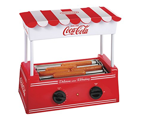 Nostalgia hdr565coke coca cola hot dog roller and bun - Hot dog roller grill with bun warmer ...