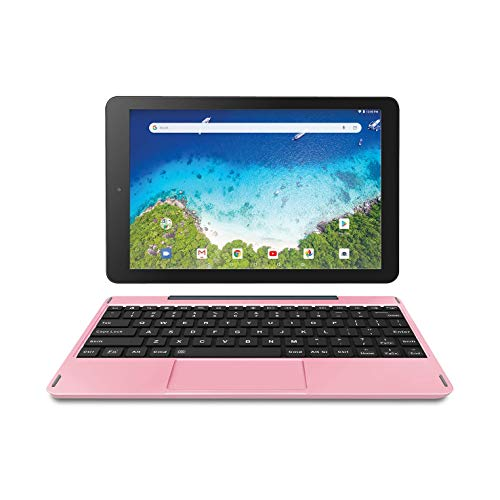 RCA 10″ Viking Pro (2-in-1) Laptop Tablet with Detachable Keyboard – 32GB | Android 8.1 (Go Edition) – (RCT6A03W13F1H) (Pink)