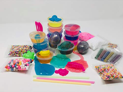 WonderCo Slime Kit with Everything! The Ultimate Slime Kit with Pre-Made Slime for Kids. Dragon Eggs, 18 Colors, Cloud Slime, Unicorn Supplies and Glitter DIY Accessories for Boys and Girls by WonderCo (Image #4)