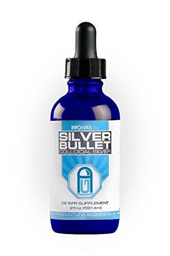 Infowars Life - Silver Bullet - Colloidal Silver 30 ppm (2 oz.) - Vegan, Non-GMO & Gluten Free Liquid Drops